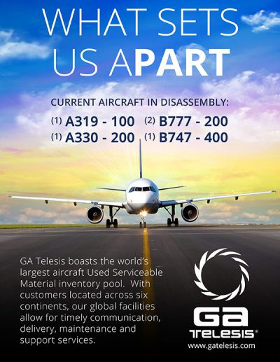 aircraft used serviceable material